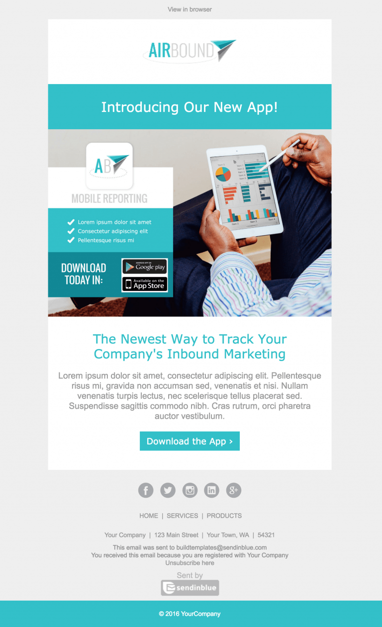 Chapter 7 the power of promotional emails the email for New service announcement template