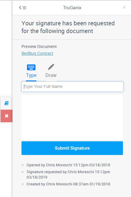 Field Service E-Signature Request Feature