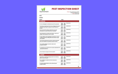 Pest Control Inspection Checklist Document