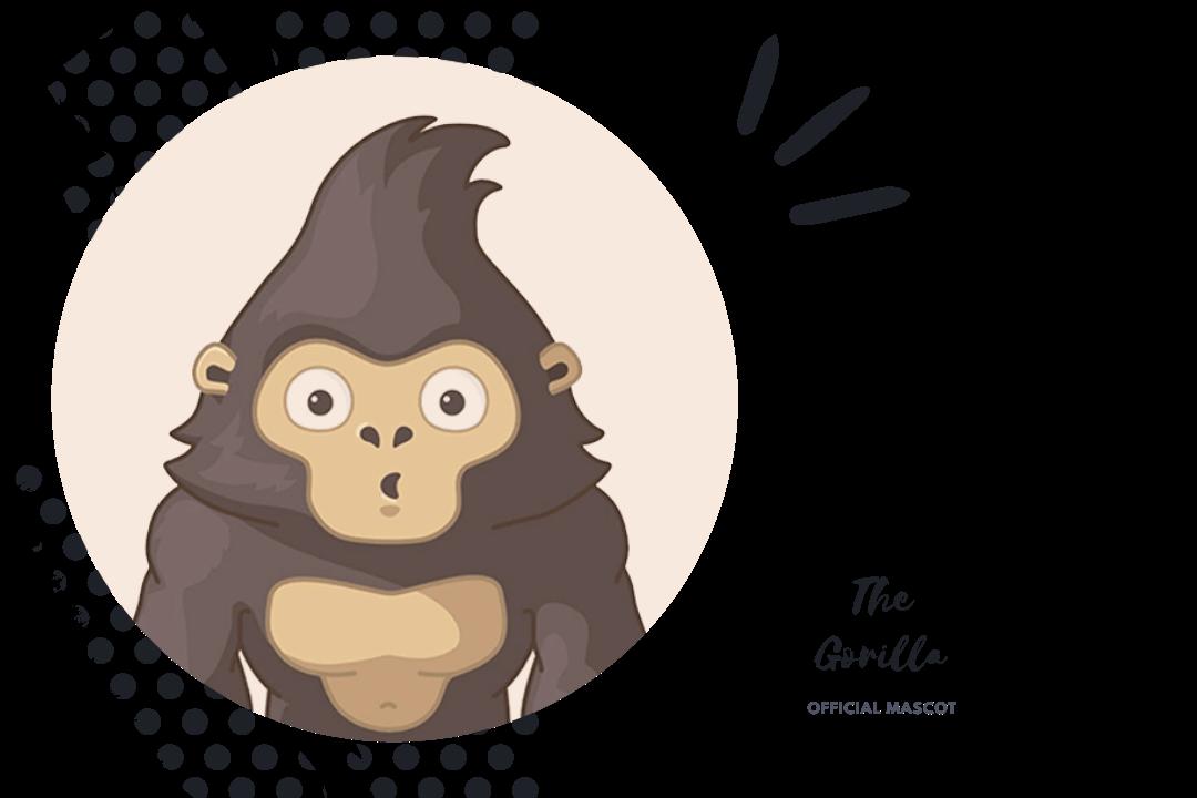 Official Mascot- GorillaDesk