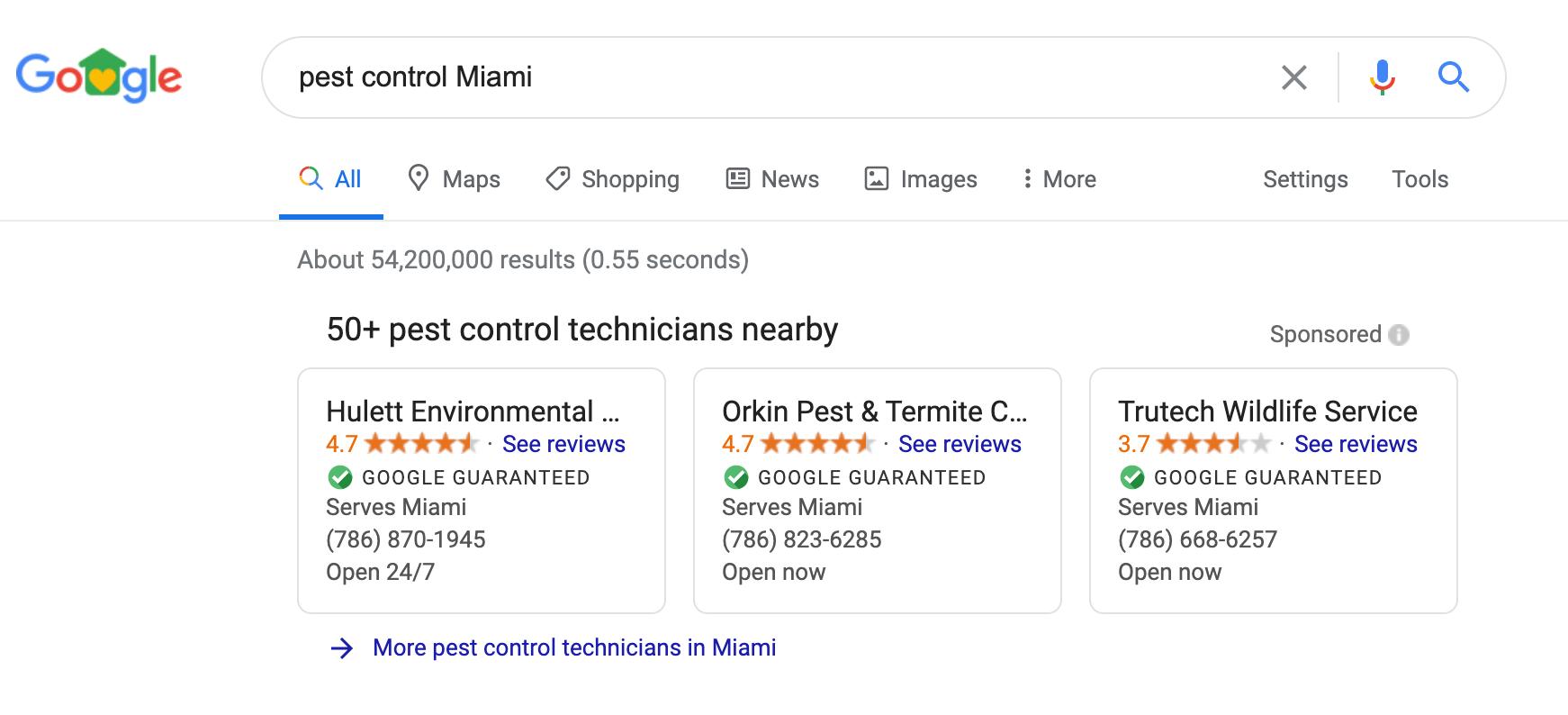 Google Local Service Ads - Pest Control Marketing